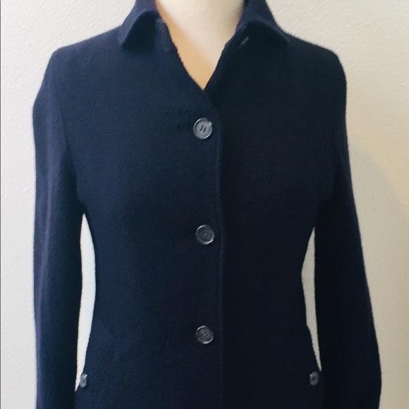 Aigle Jackets & Blazers - AIGLE Navy Blue Peacoat / Casual Coat Size Small